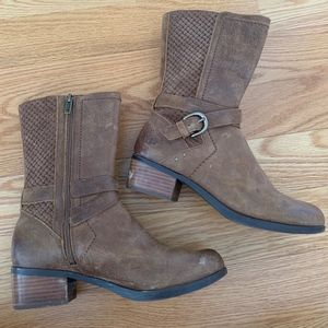 UGG Brown Leather Short Boots
